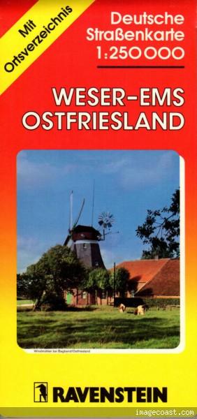 Weser-Ems-Ostfriesland 1:250 000, Ravenstein Verlag