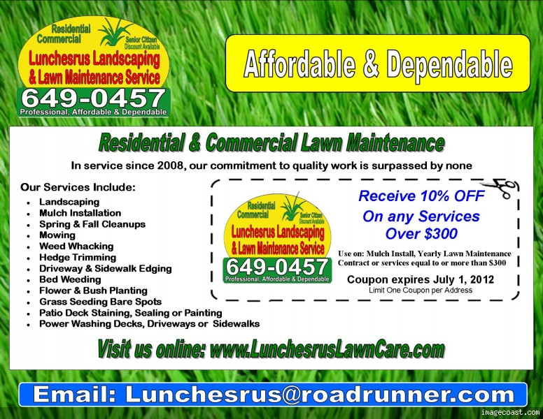 Lawn care flyers joy studio design gallery best design for General garden services